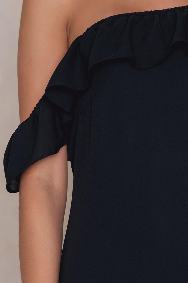 Cold Shoulder Thin Strap Frill Dress NA-KD.COM