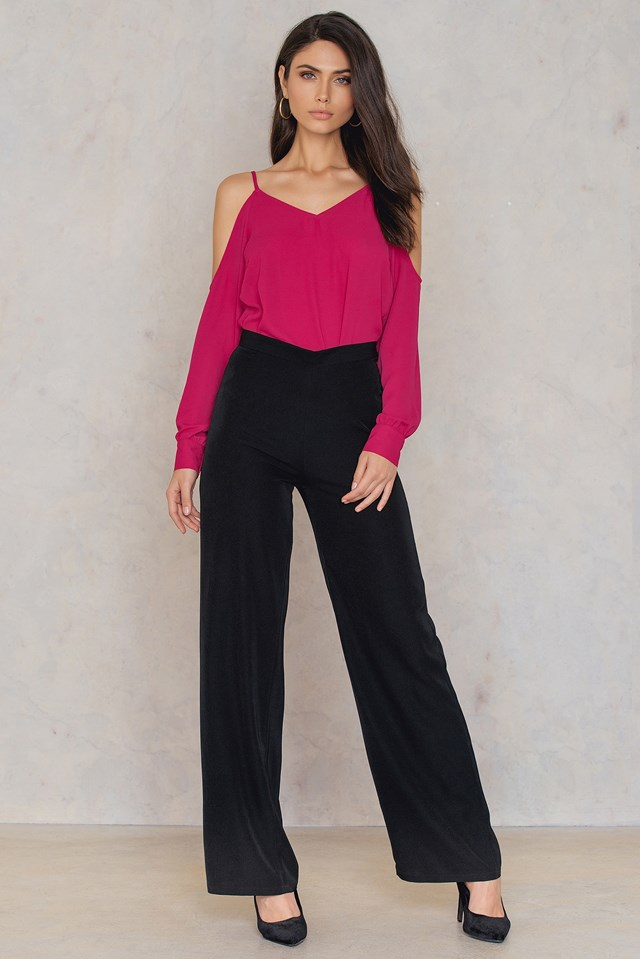 Cold Shoulder Top Raspberry