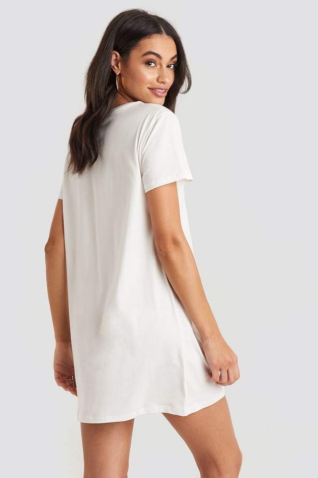 Collage T-shirt Dress Off White