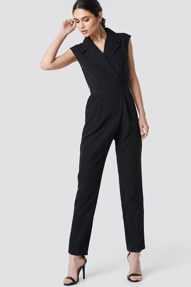 Collared Waistband Jumpsuit NA-KD.COM