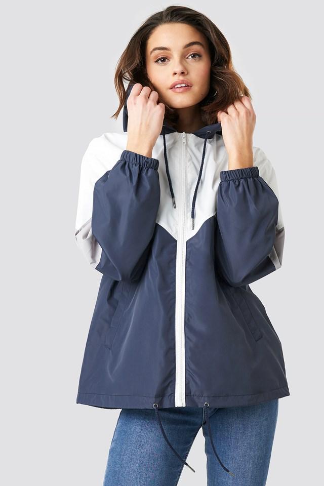 Color Blocked Jacket Multi