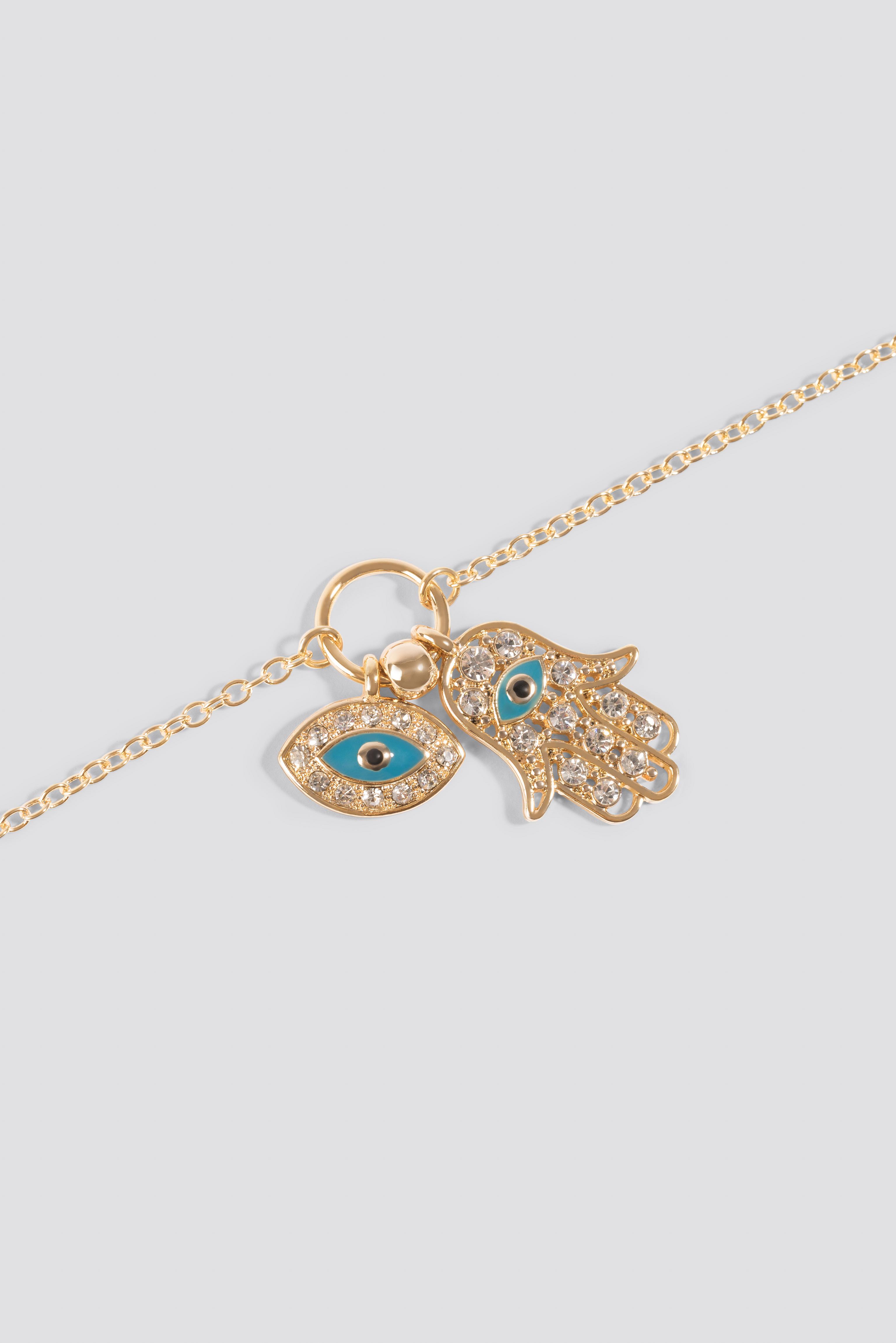Color Detail Hamsa Hand Necklace NA-KD.COM