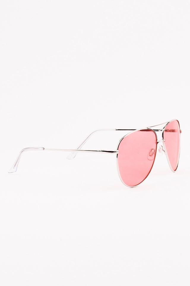Colored Pilot Sunglasses Pink