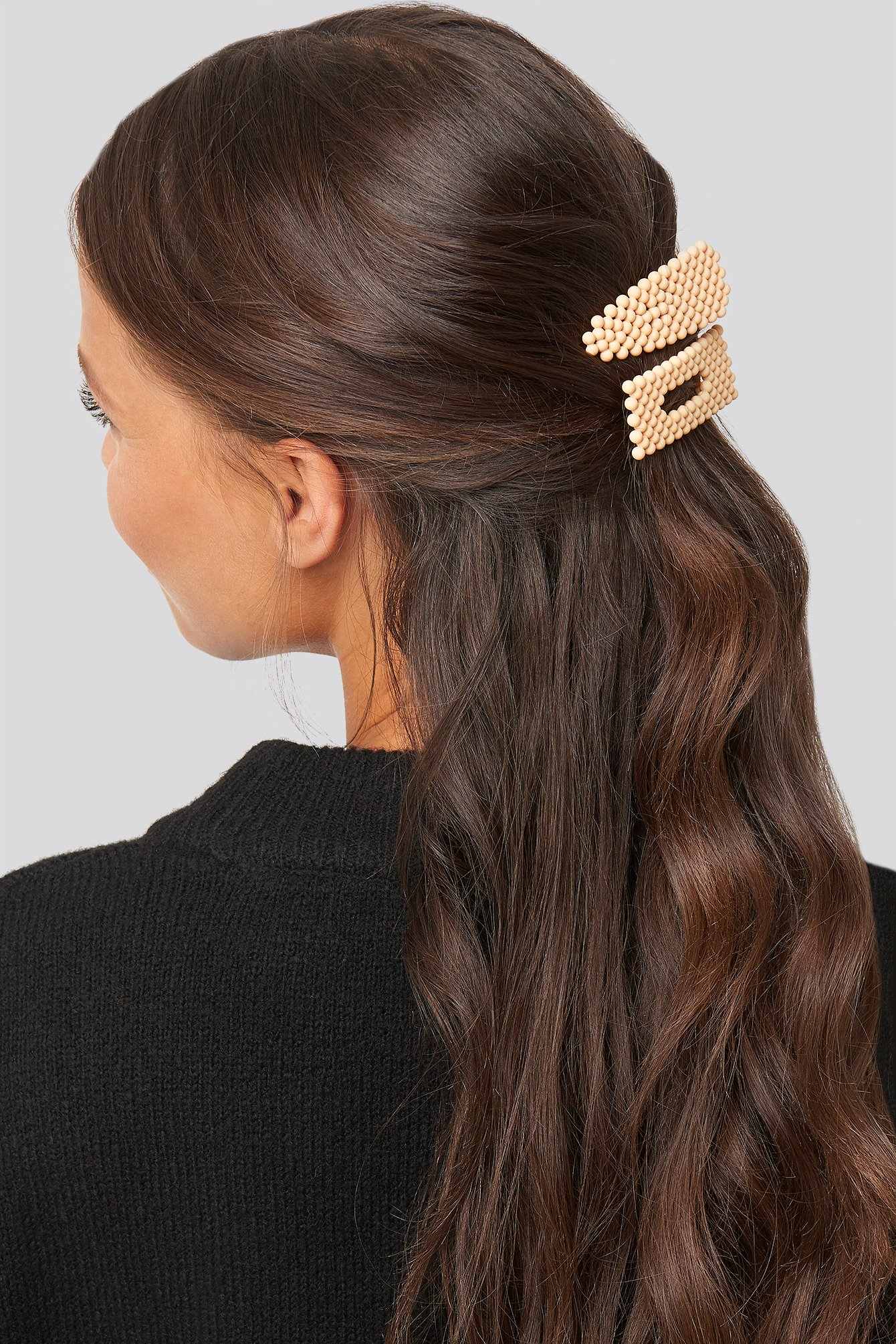 na-kd accessories -  Colored Beads Hairclips - Orange