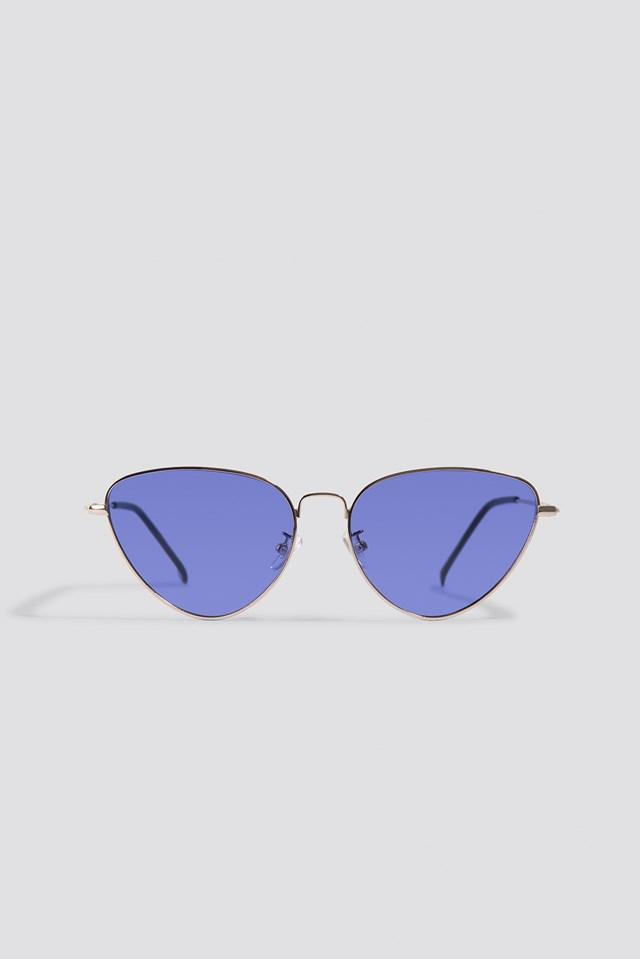 Colored Cateye Sunglasses Purple