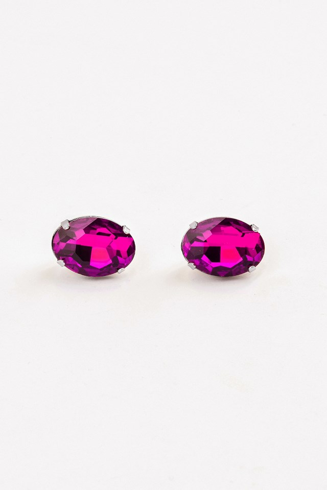 Colored Diamond Earrring Magenta