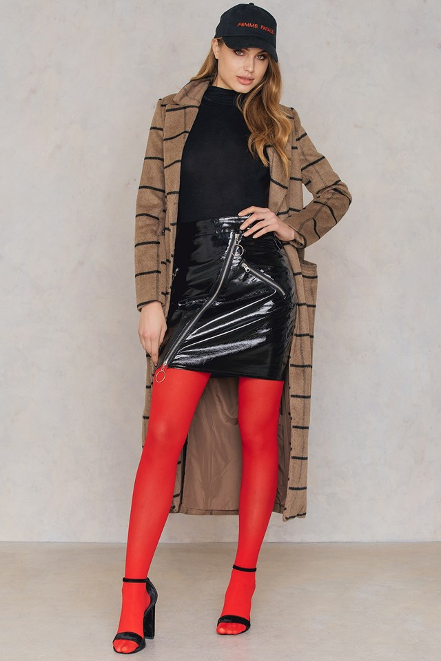 Coloured Tights Red