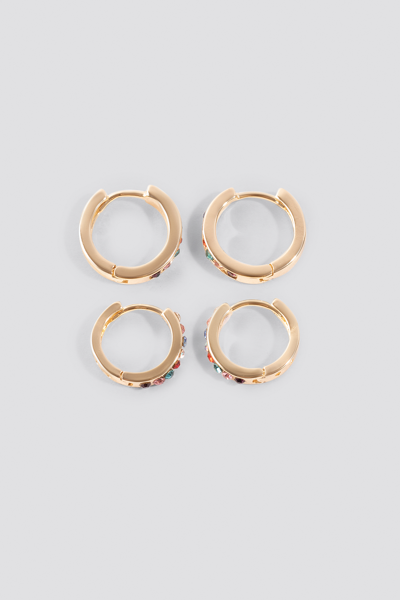 Colorful Mini Stone Hoops NA-KD.COM