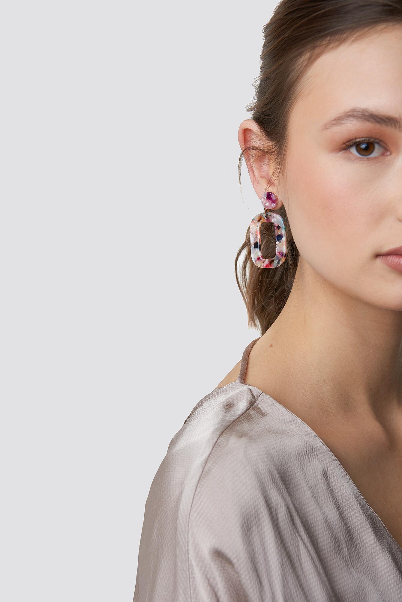 Colourful Resin Earrings NA-KD.COM