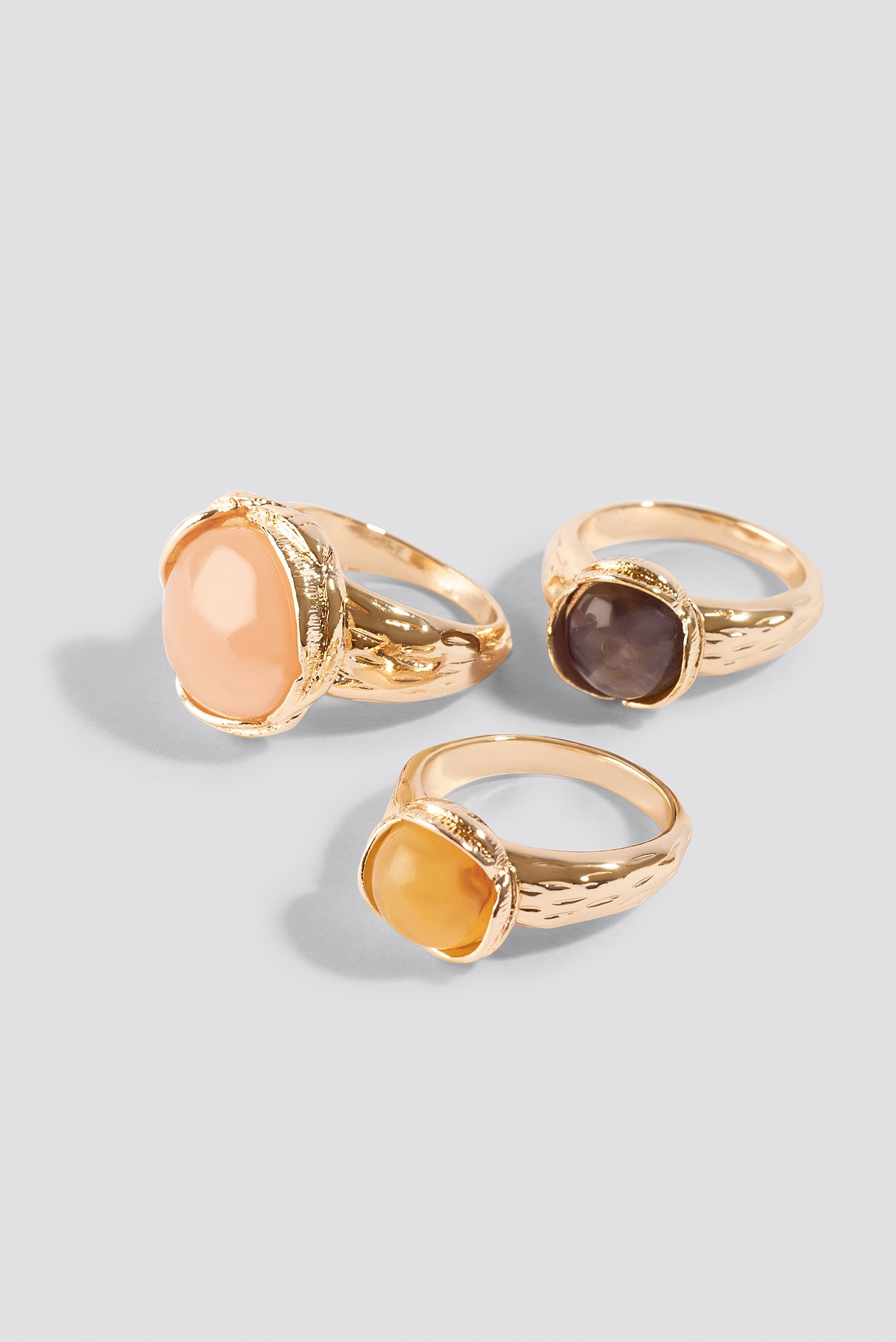 Colorful Stone Rings (3-pack) NA-KD.COM