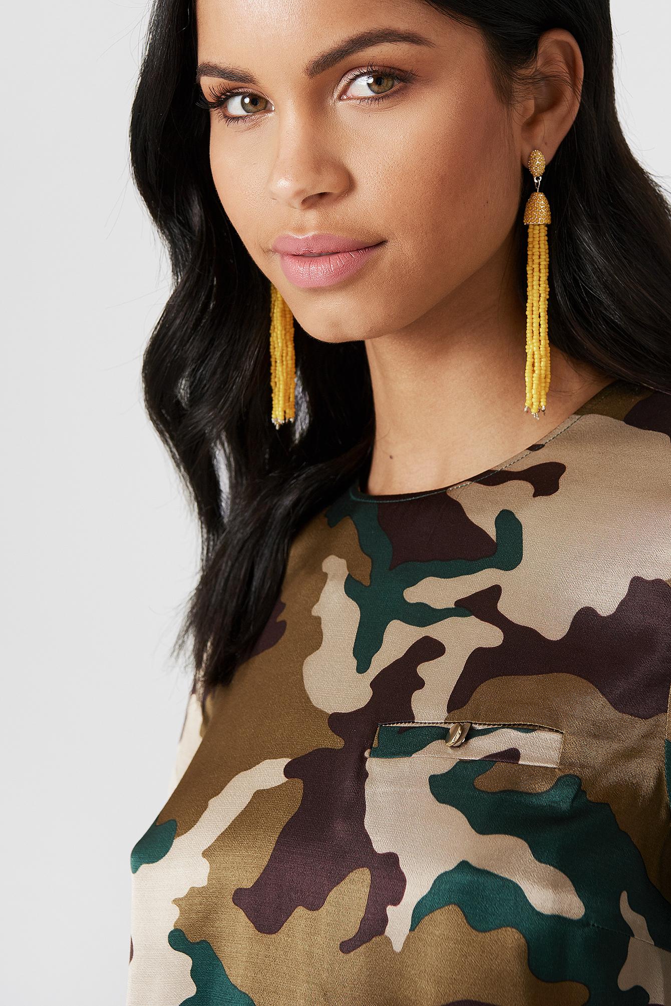 Coloured Beads Tassel Earrings NA-KD.COM