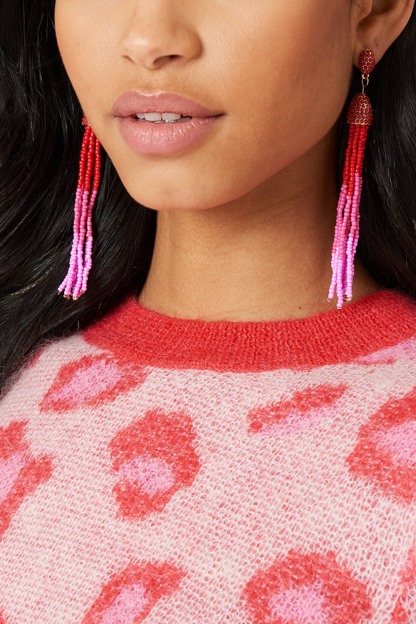 Coloured Beads Tassel Earrings NA-KD.COM