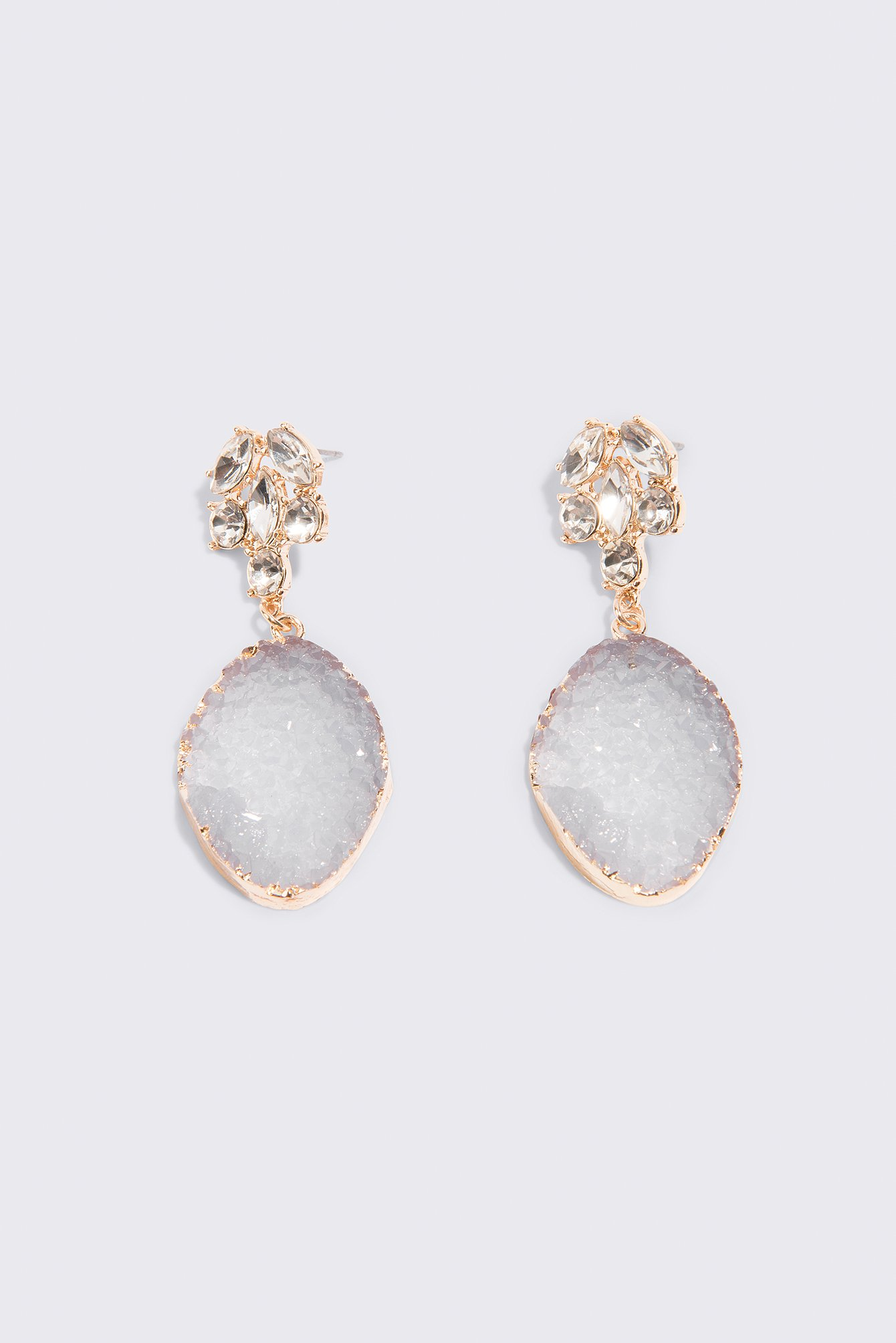 Coloured Crystal Drop Earrings NA-KD.COM