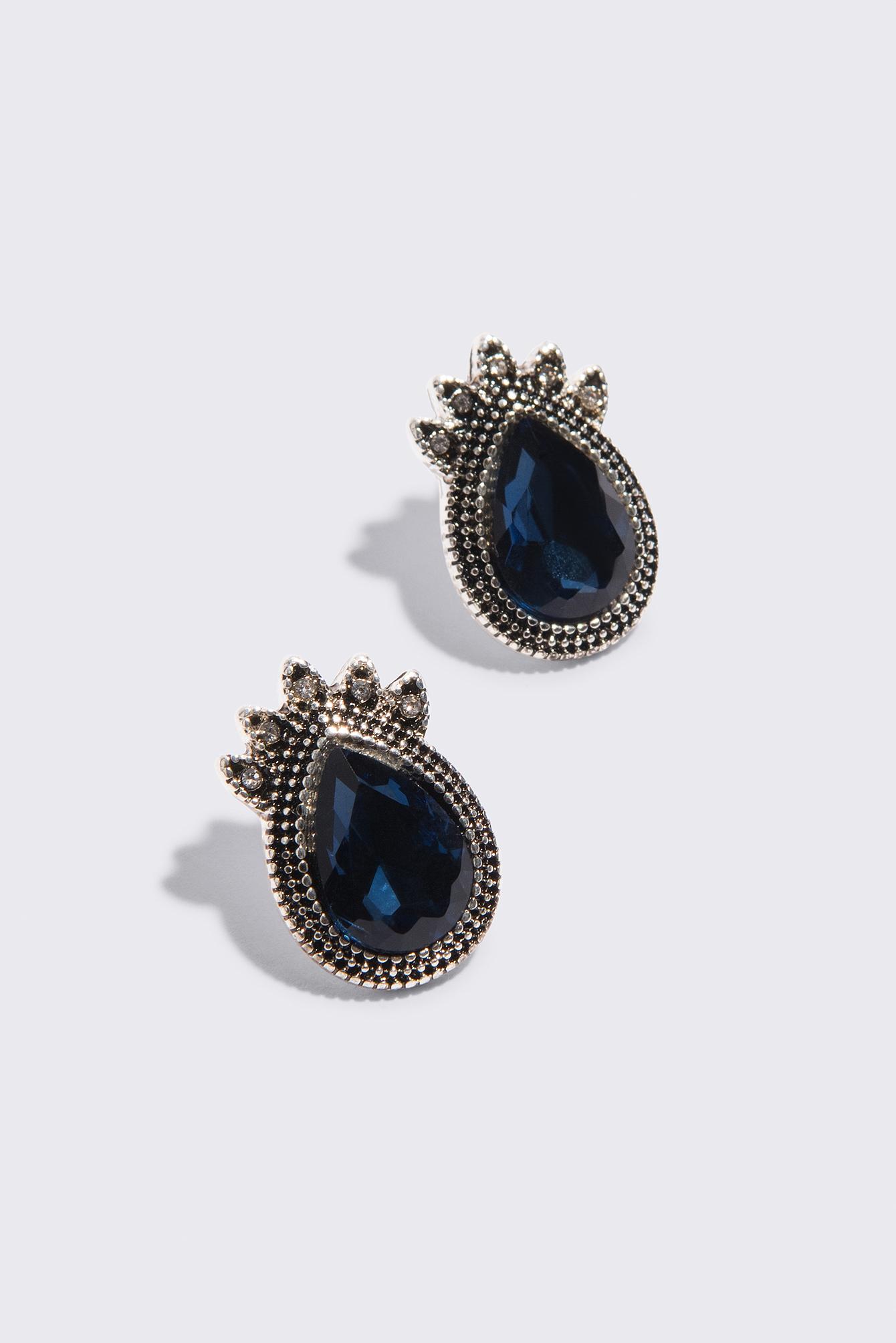 Coloured Diamond Stud Earrings NA-KD.COM