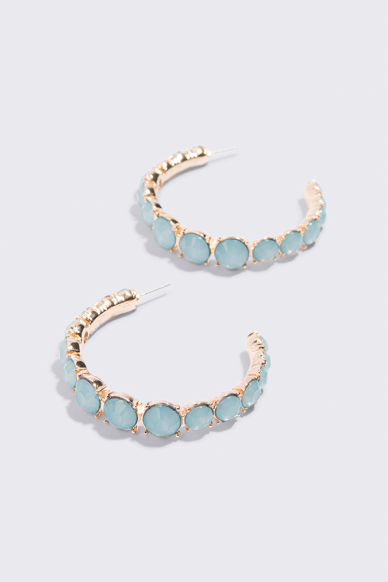 Coloured Stone Hoop Earrings NA-KD.COM