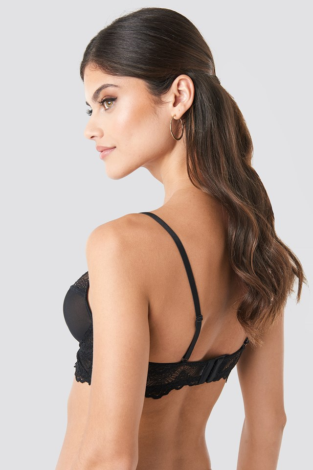 Combined Lace Cup Bra Black