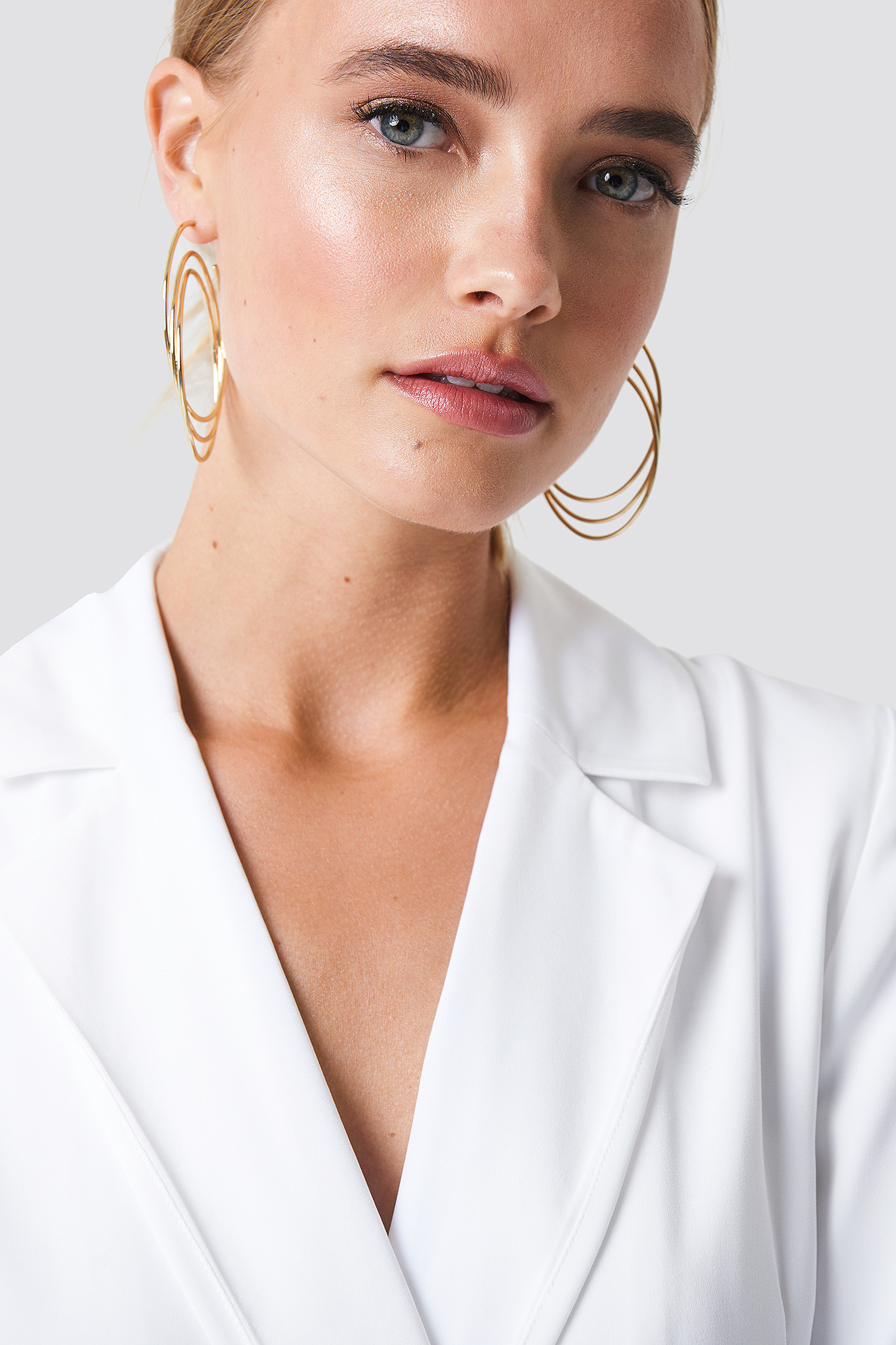 Combined Triple Hoop Earrings NA-KD.COM