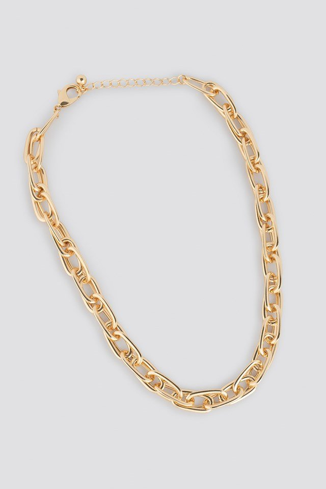 Connected Chain Necklace Gold