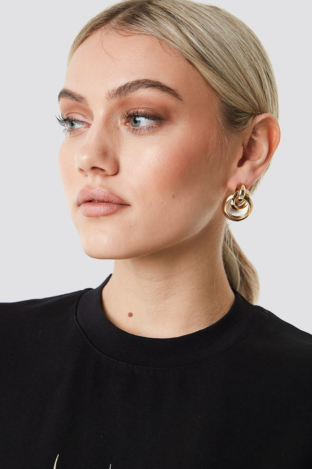 Connected Ring Earrings NA-KD Accessories