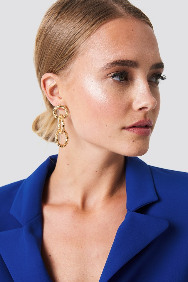 Connected Rope Earrings Gold