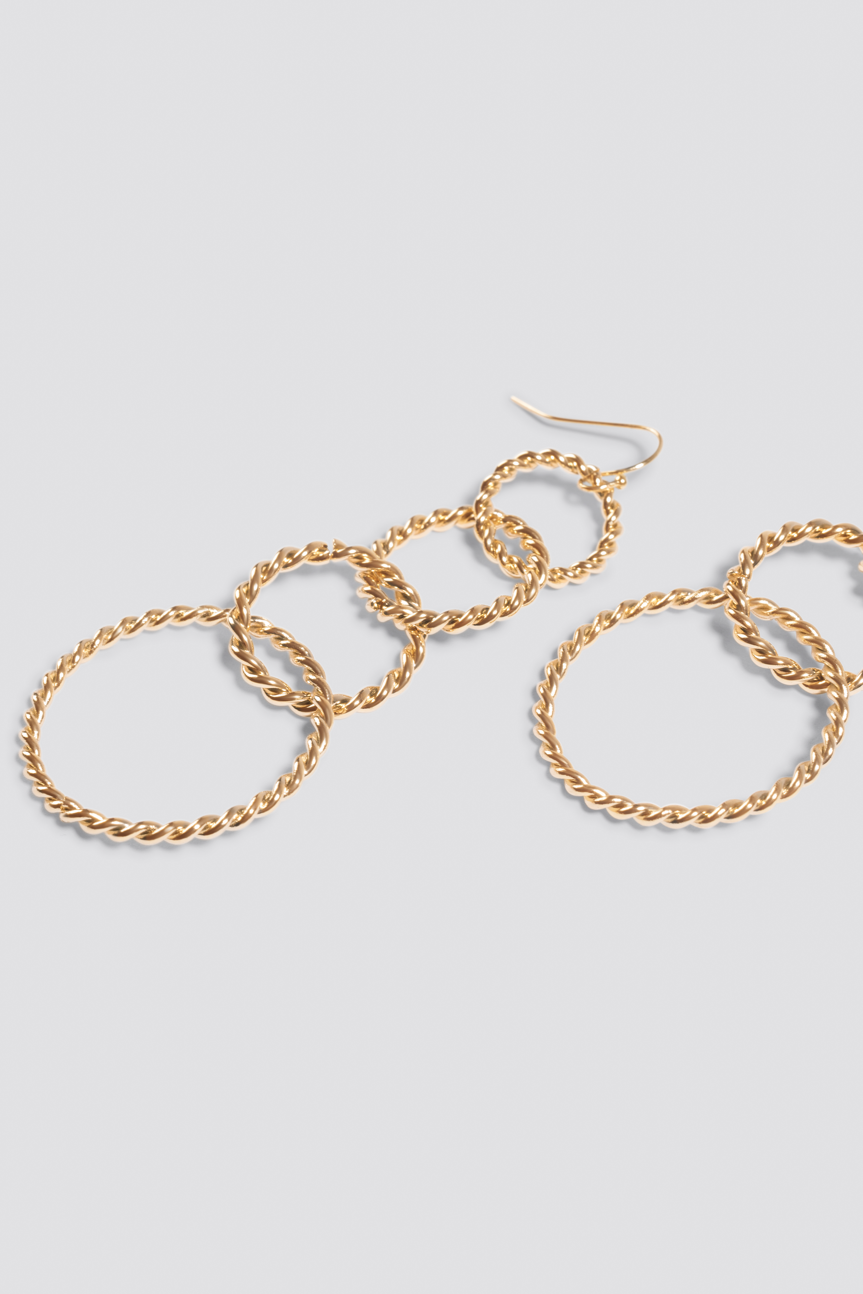 Connected Rope Hoop Earrings NA-KD.COM
