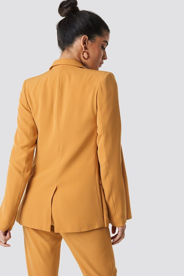 Contrast Buttons Blazer Yellow