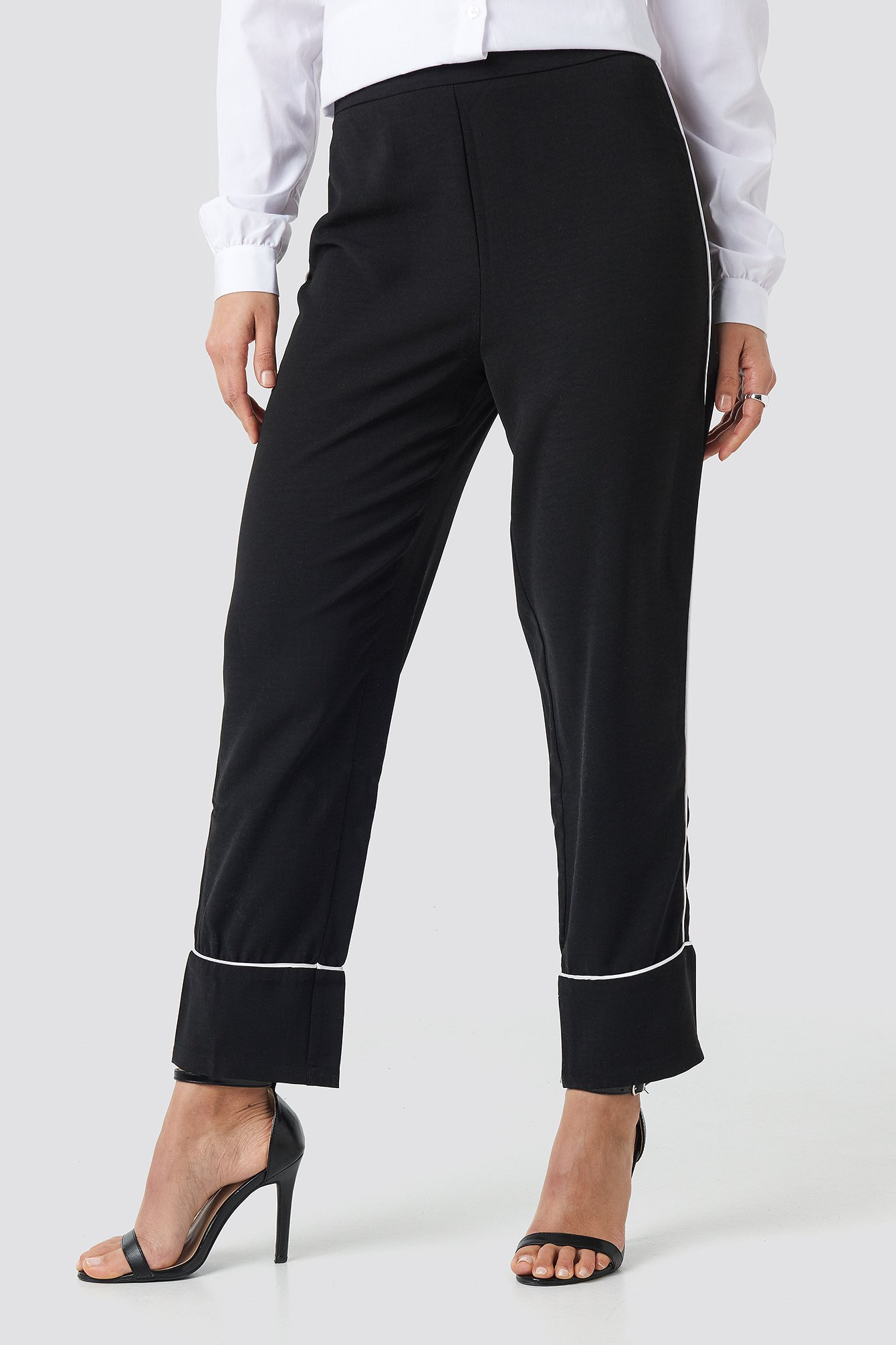 Contrast Piping Suit Pants NA-KD.COM