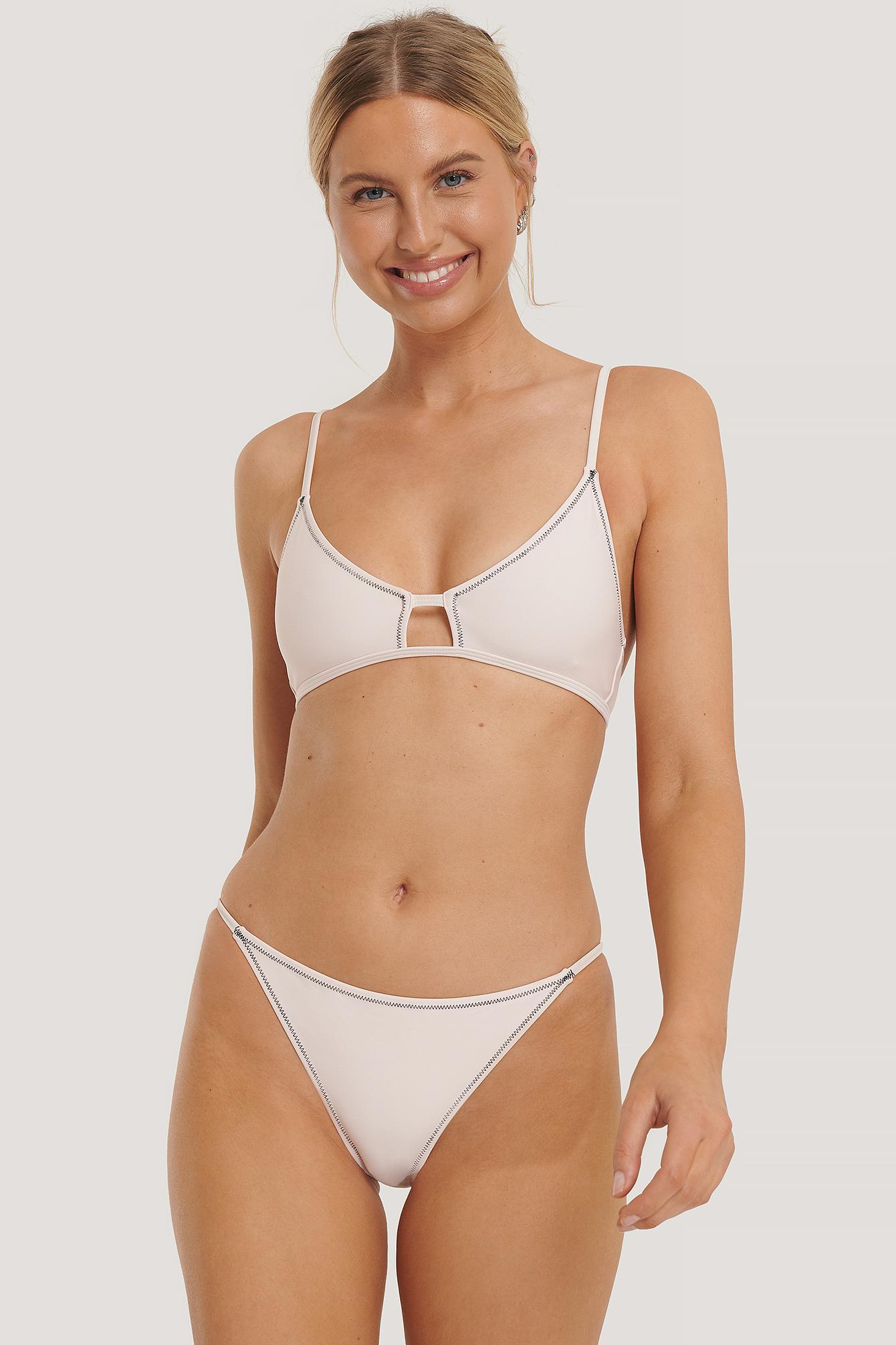 NA-KD Swimwear Bikinitrusser Med Siderem - Pink