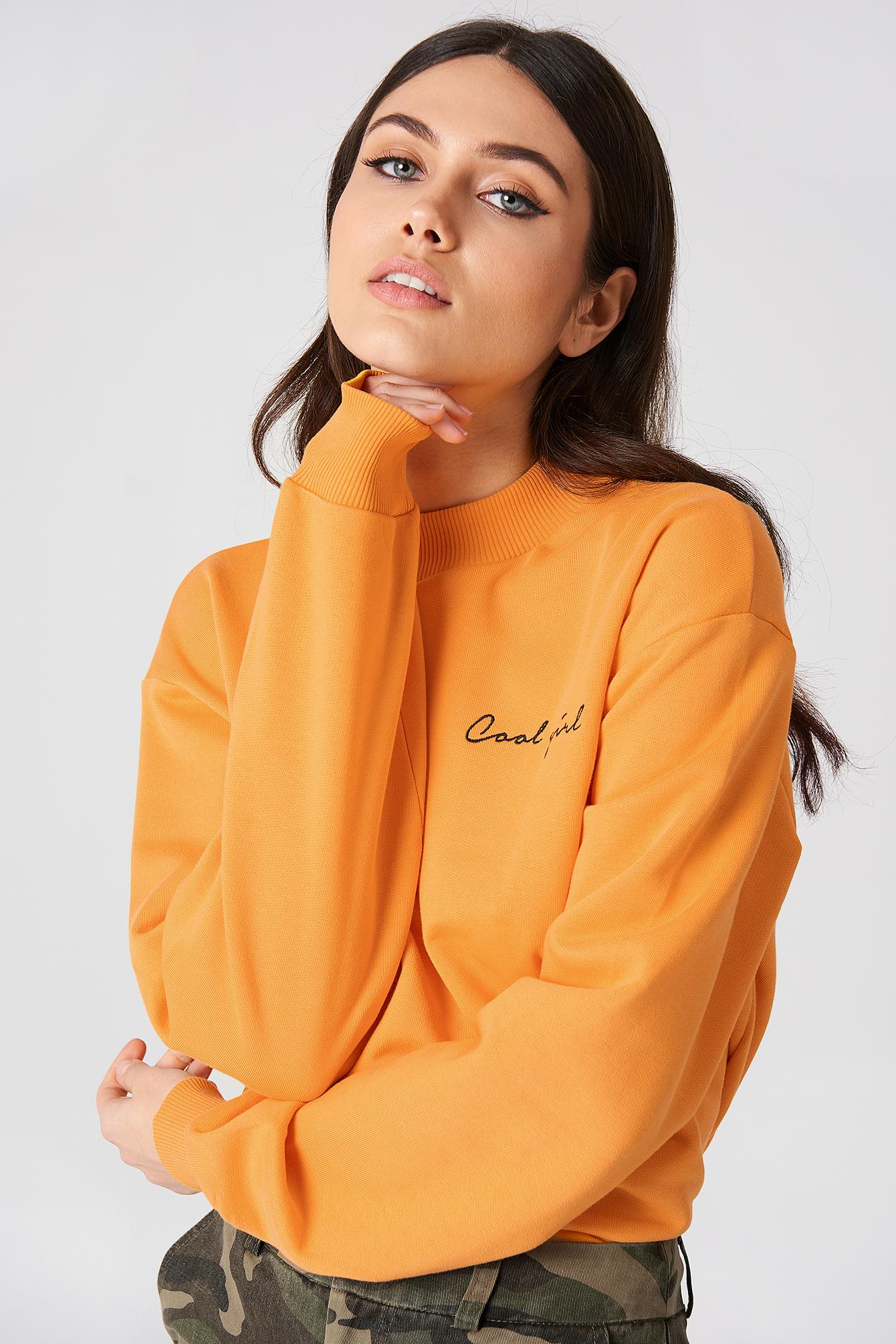 na-kd -  Cool Girl Sweatshirt - Orange