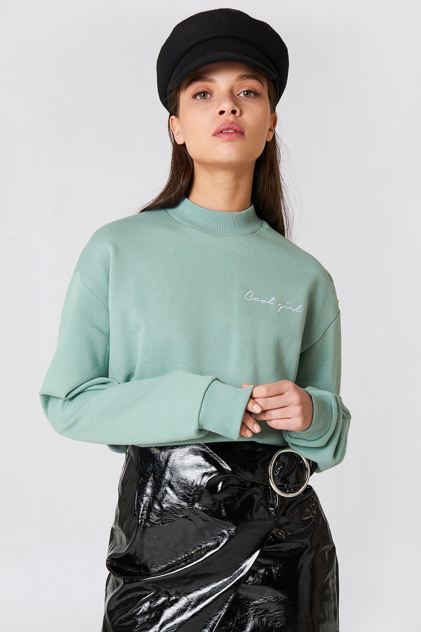 na-kd -  Cool Girl Sweatshirt - Green