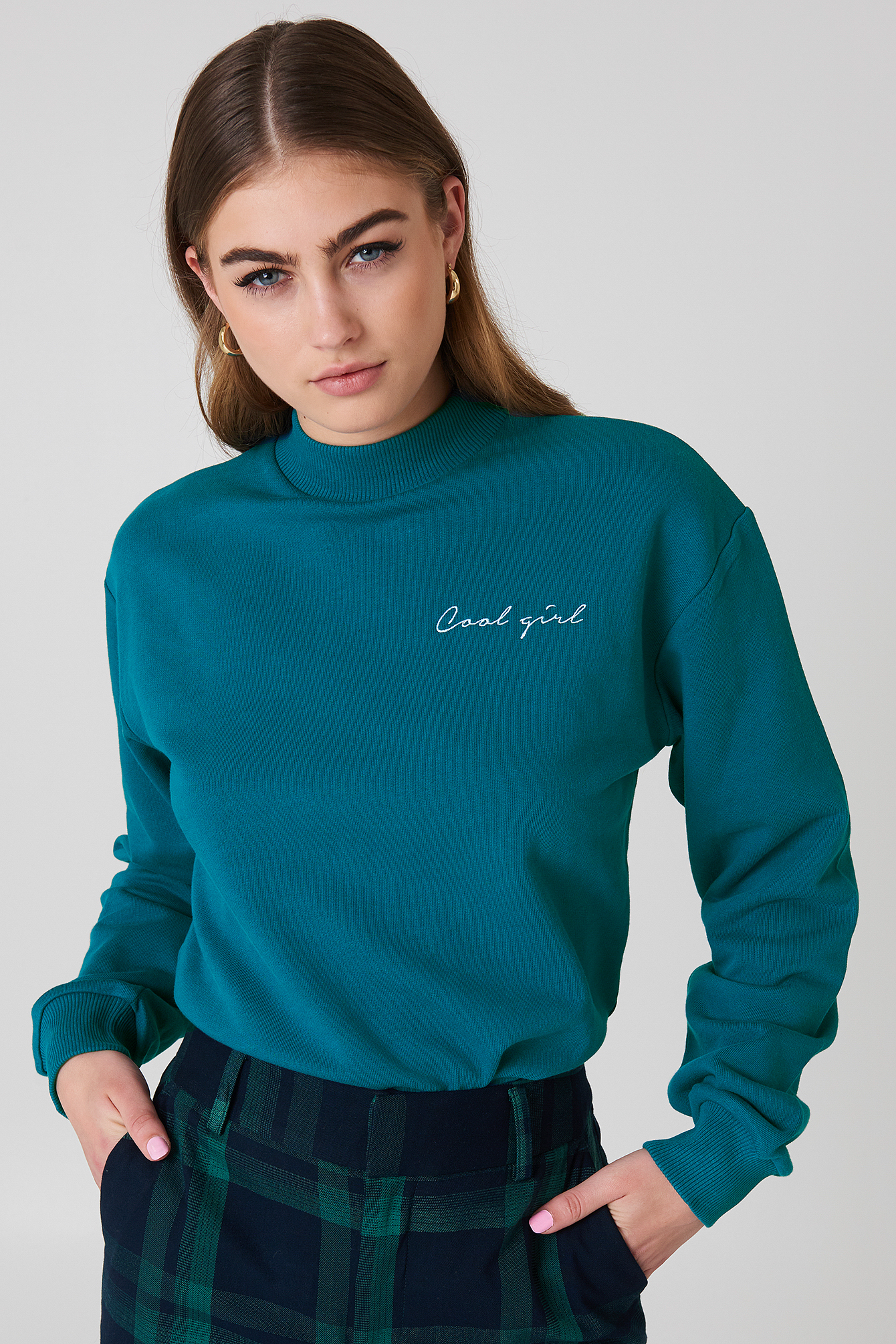 na-kd -  Cool Girl Sweatshirt - Green