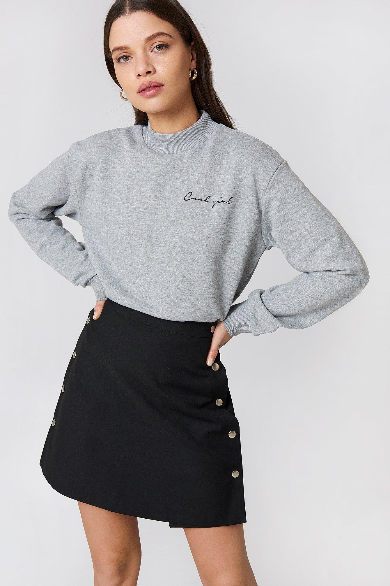 na-kd -  Cool Girl Sweatshirt - Grey
