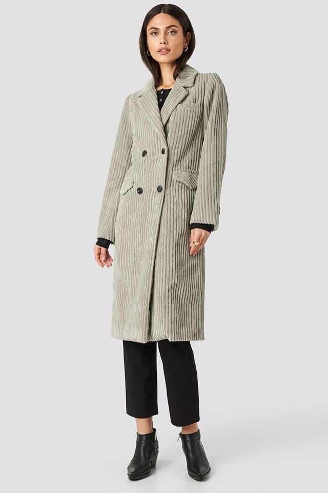 Corduroy Coat Beige