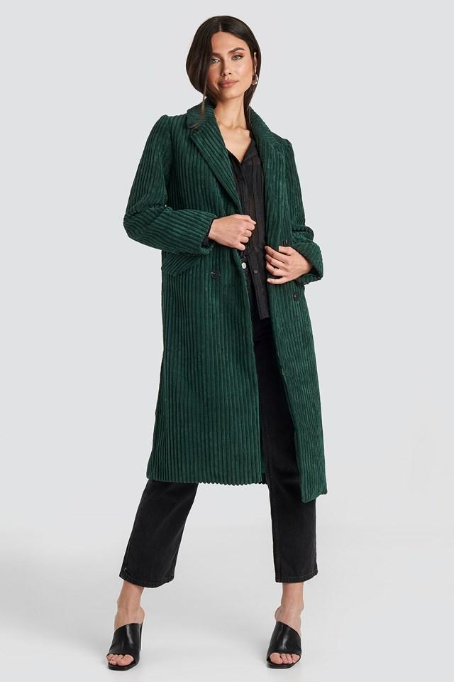Corduroy Coat Dark Green