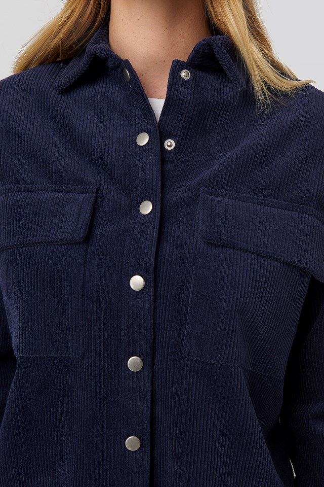 Corduroy Overshirt Dark Navy