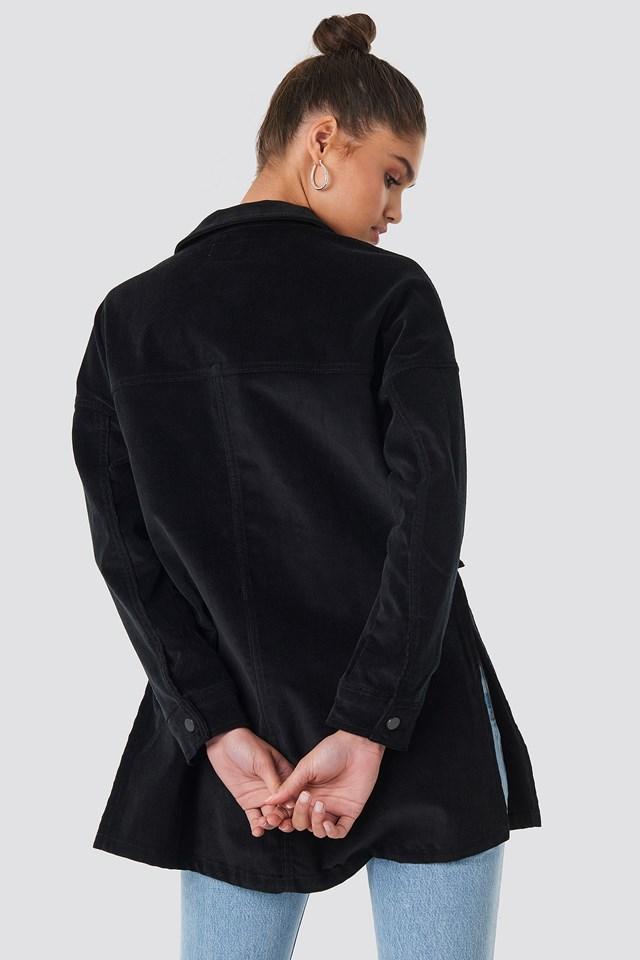 Corduroy Overshirt Jacket Deep Black