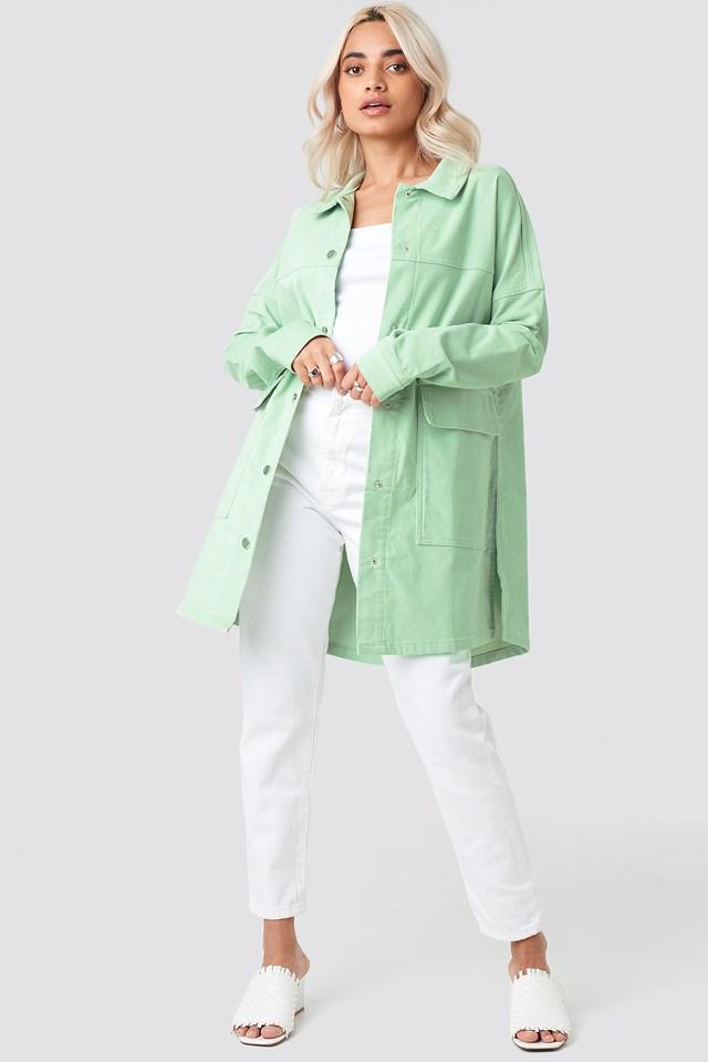 Corduroy Overshirt Jacket Green