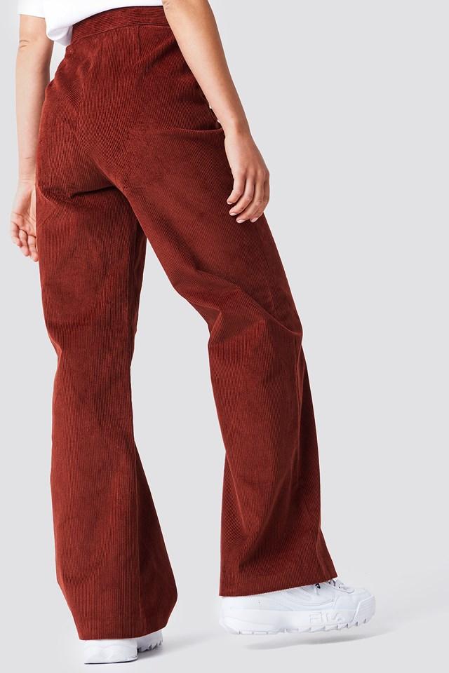 Corduroy Suit Pants Brown