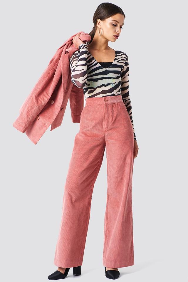 Corduroy Suit Pants NA-KD Classic