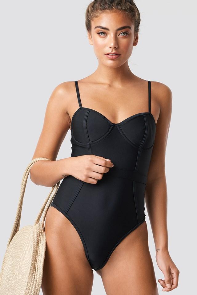 Corset Swimsuit NA-KD Swimwear