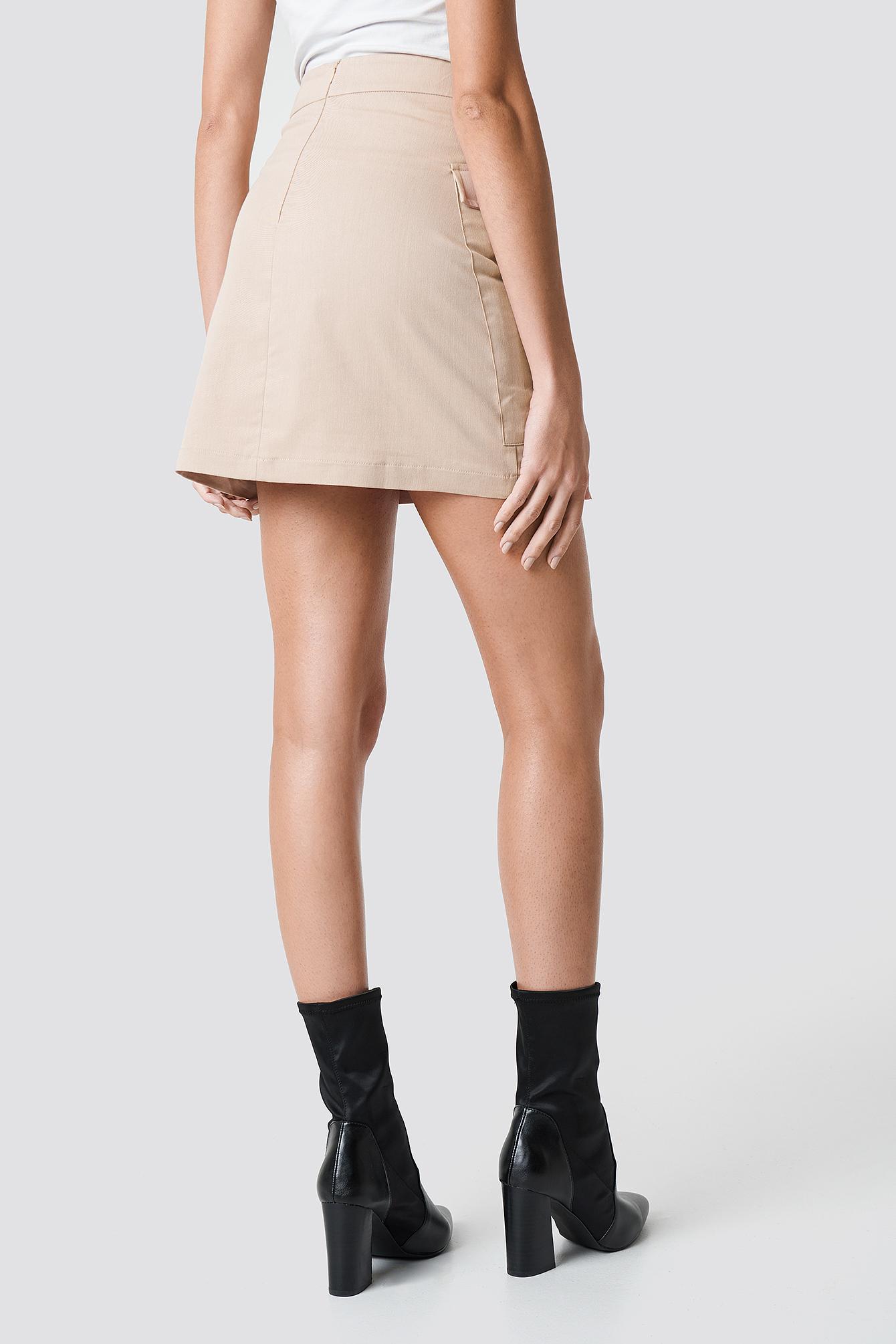 Cotton Blend Mini Skirt NA-KD.COM