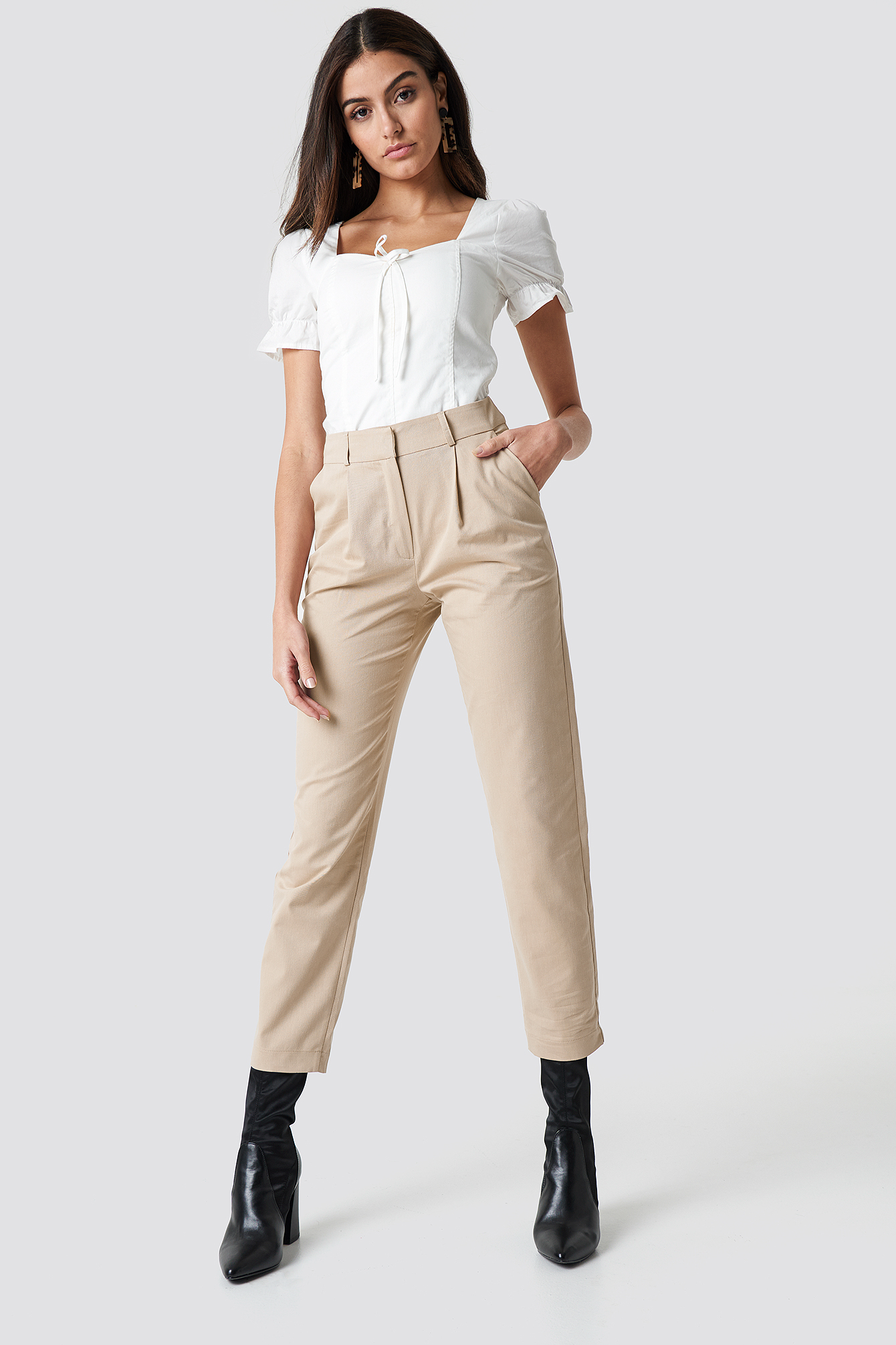 Cotton Blend Suit Pants NA-KD.COM