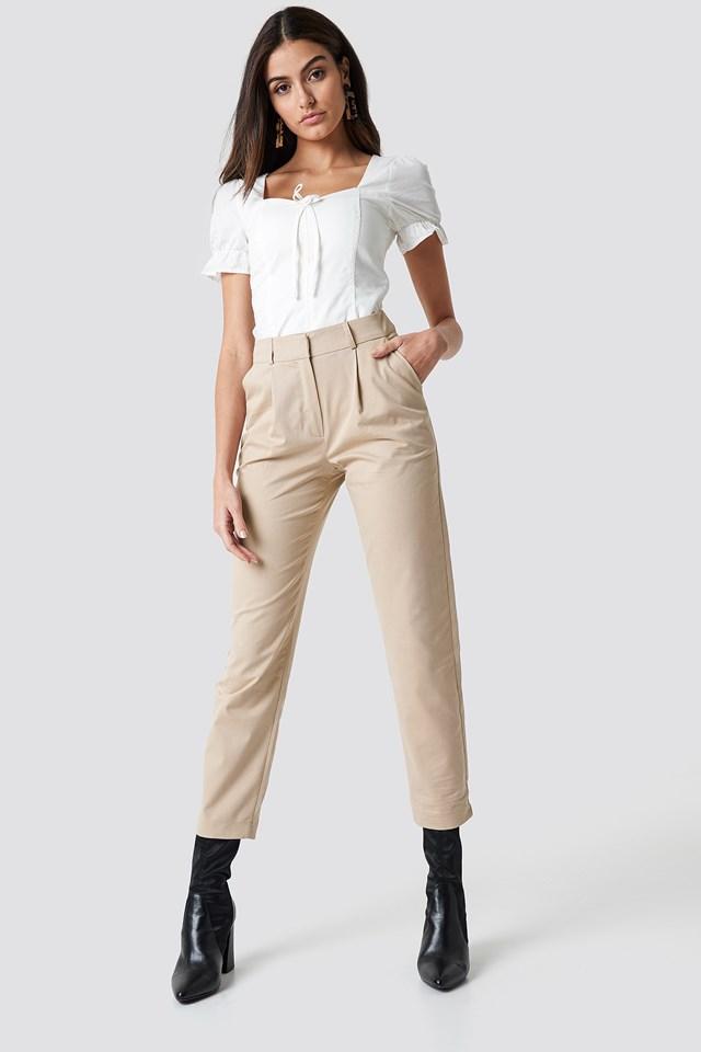 Cotton Blend Suit Pants NA-KD.COM