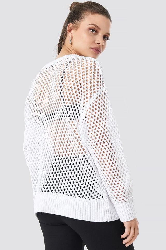 Cotton Knit Jumper White