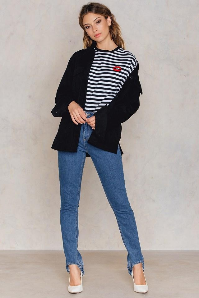 Cotton Shirt Jacket Black