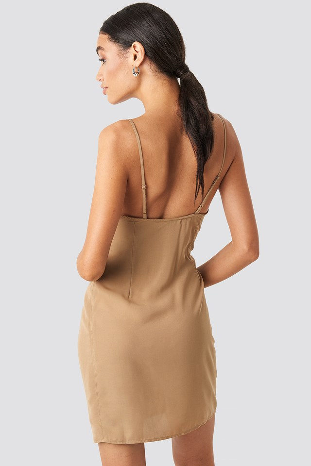 Cowl Neck Mini Dress NA-KD.COM