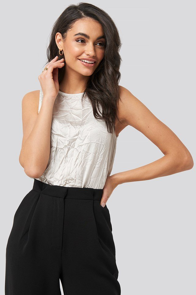 Creased Effect Sleeveless Top NA-KD Party
