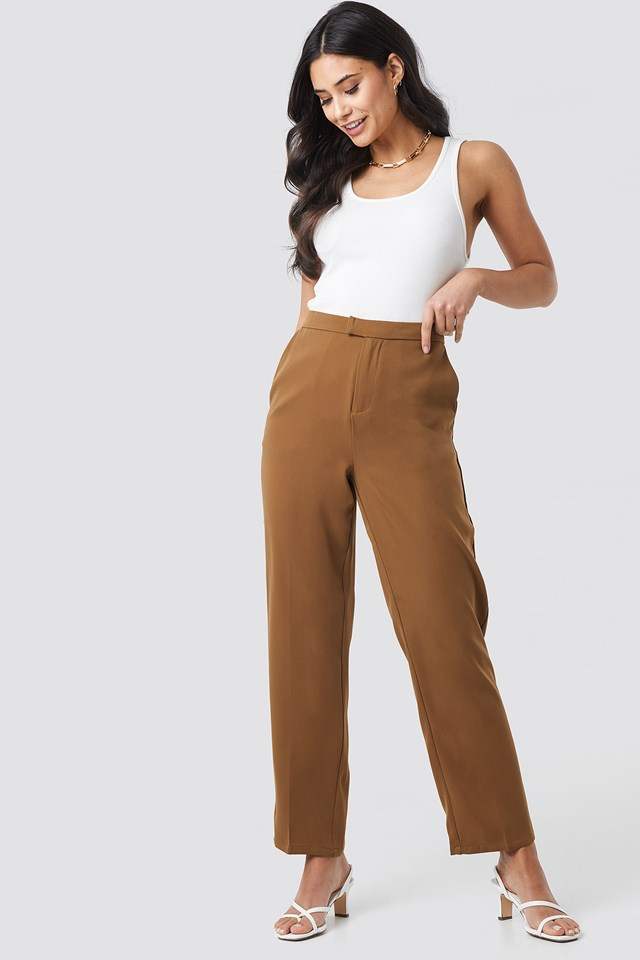 Creased Straight Suit Pants NA-KD Trend