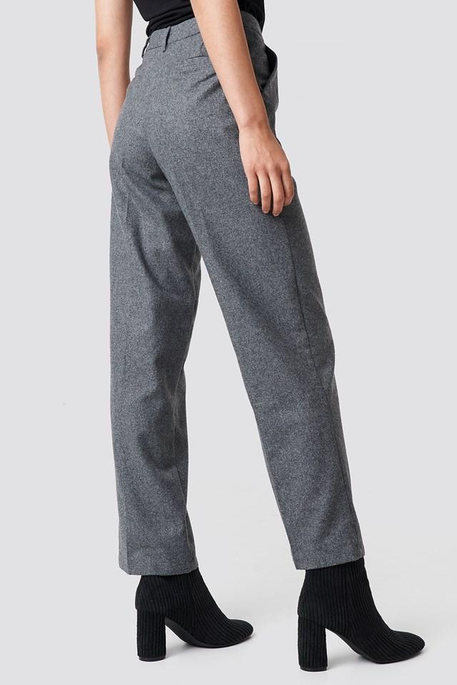 Creased Wide Leg Pants Grey