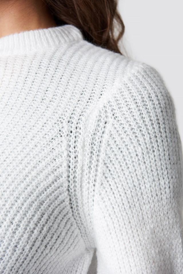 Sweter z okrągłym dekoltem Offwhite